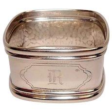 Webster Hammered Square Sterling Napkin Ring