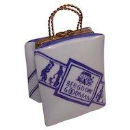 Limoges Bergdorf Goodman Shopping Bag Porcelain Pill Box
