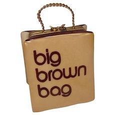 Limoges Bloomingdales Big Brown Bag Shopping Bag Porcelain Pill Box