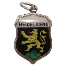 Vintage Heidelberg Sterling Travel Shield Charm