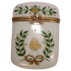 House of Laure Selignac Limoges Hand Painted Bee Pill Box