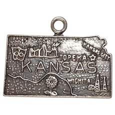 Vintage Kansas State Sterling Charm