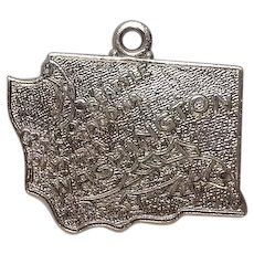 Signed Washington State Sterling Charm by Wells