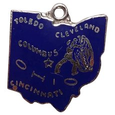 Vintage Ohio State Enameled Sterling Charm