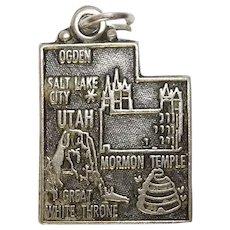 Vintage Utah Mormon Temple State Charm