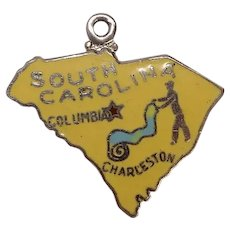 South Carolina State Enameled Sterling Charm