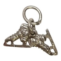 Sterling Pair of Ice Skates Charm