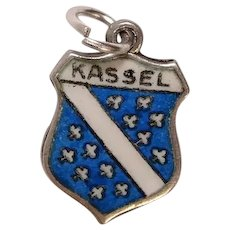 Vintage Kassel Germany Silver Enameled Travel Shield Charm