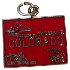Colorado State Enameled Sterling Charm