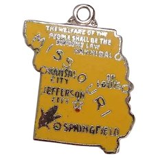 Sterling Missouri Enameled State Charm