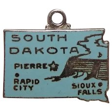 Sterling South Dakota Enameled State Charm