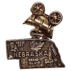 Sterling Nebraska State Charm with attached Covered Wagon