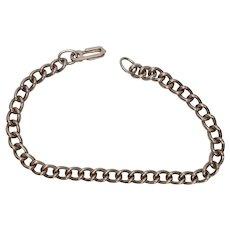 Sterling Curb Scissor Clasp Vintage Bracelet