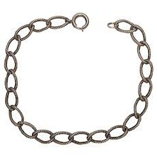 Vintage Sterling Rope Style Link Bracelet