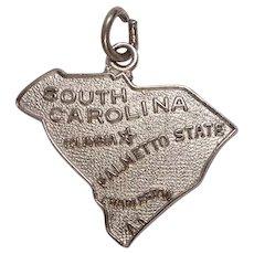 South Carolina Palmetto State Sterling Charm