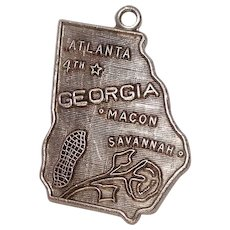 Georgia State Sterling Charm