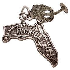 Florida State and Palm Tree Sterling Charm Combo