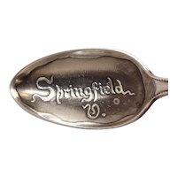 Antique Springfield Virginia Sterling Souvenir Spoon