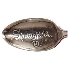 Antique Springfield Virginia Sterling Souvenir Spoon
