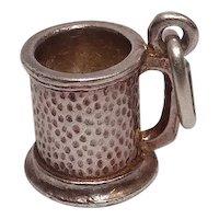 Sterling Tankard or Mug Charm