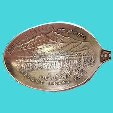 Dunsmuir California Mt Shasta Souvenir Spoon