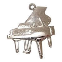 Signed Wells Sterling Piano Charm
