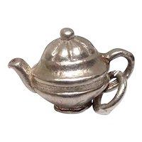 Solid Vintage Teapot Sterling Charm