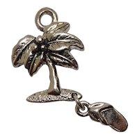 Palm Tree Flip Flip Charm