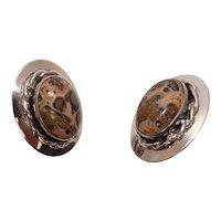 Sterling Jasper Agate Earrings