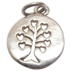 Heart Tree Mixed Metal Charm FREE SHIPPING