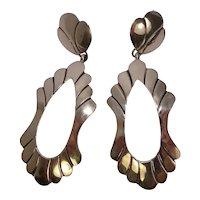 Signed Navajo Sterling Earrings