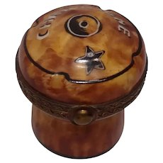 Limoges Parry Vielle Champagne Cork Porcelain Pill Box