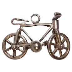 Vintage Sterling Mechanical Bicycle Charm