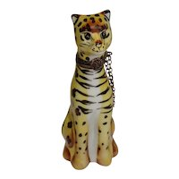 Limoges Hand Painted Cheetah Porcelain Pill Box