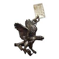 Sterling Eagle Charm