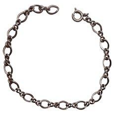 "Sterling Charm Bracelet 7 1/2"""