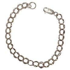Sterling Double Link Bracelet 7 1/2'
