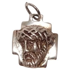 Jesus Cross Sterling Charm