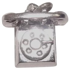 Rotary Dial Telephone Sterling Charm