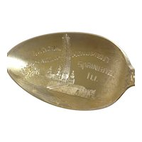 National Lincoln Monument Springfield Illinois Souvenir Spoon
