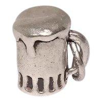 Sterling Mug of Beer Charm