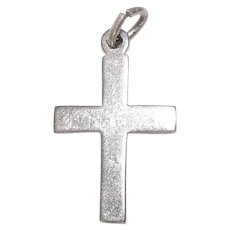 Signed Wells Sterling Cross Charm or Pendant