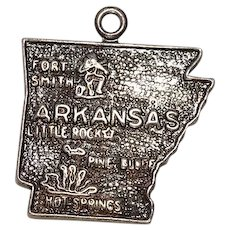 Arkansas State Sterling Charm