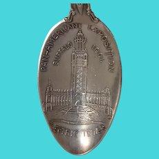 1901 Pan American Exposition Electric Tower Buffalo New York Souvenir Spoon