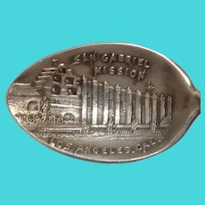 San Gabriel Mission Los Angeles California Souvenir Spoon
