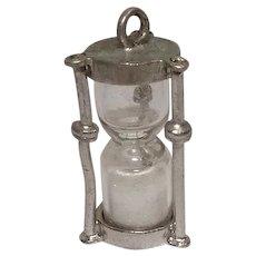 Vintage Sand Clock Charm