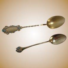 Sterling Enameled Demitasse Spoons Gorham