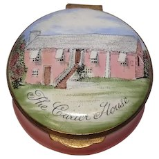 Crummles England The Carter House Bermuda Hand Painted Enameled Pill Box
