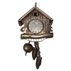 Mechanical Cuckoo Clock Charm