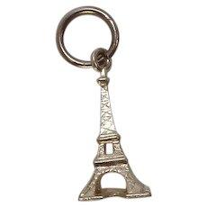 Sterling Eiffel Tower Travel Charm